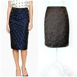 J CREW No. 2 Pencil Skirt in Dot Brocade